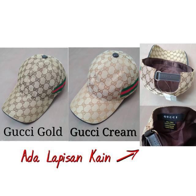 BOX LENGKAP Topi Gucci Canvas GG Original Web Bee Lebah Coklat Tua Cream  Diamante Hitam Premium ORI  0858bcf837
