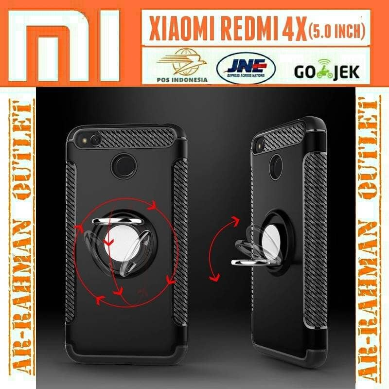 Case Ume Original List iRing Hardcase Sim Armor For Xiaomi Redmi 4A - Rosegold + Free Holder Gurita | Shopee Indonesia