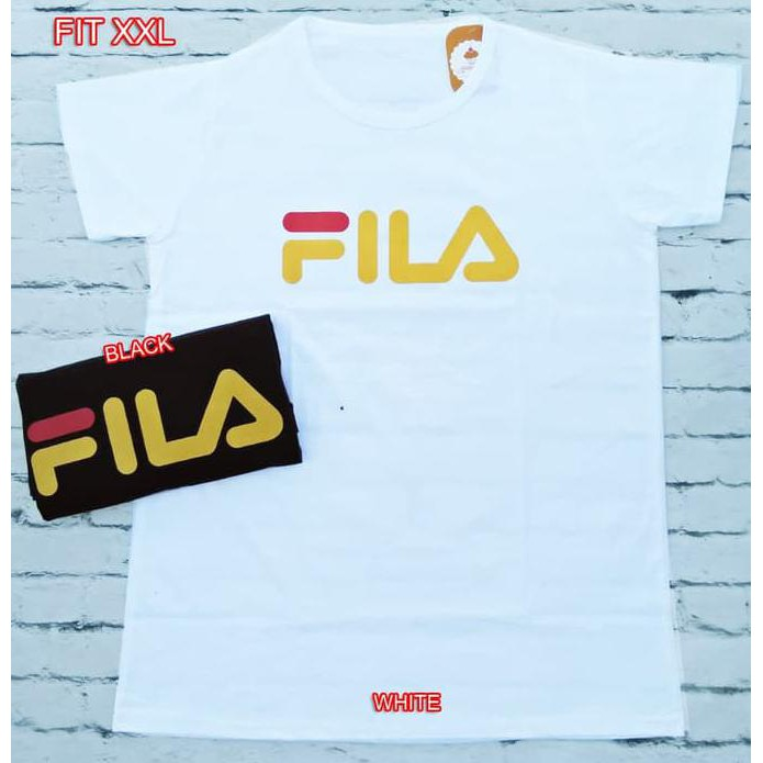 Best Produk Popolatos Kaos Fila All Size Fit To L - Putih   Shopee Indonesia