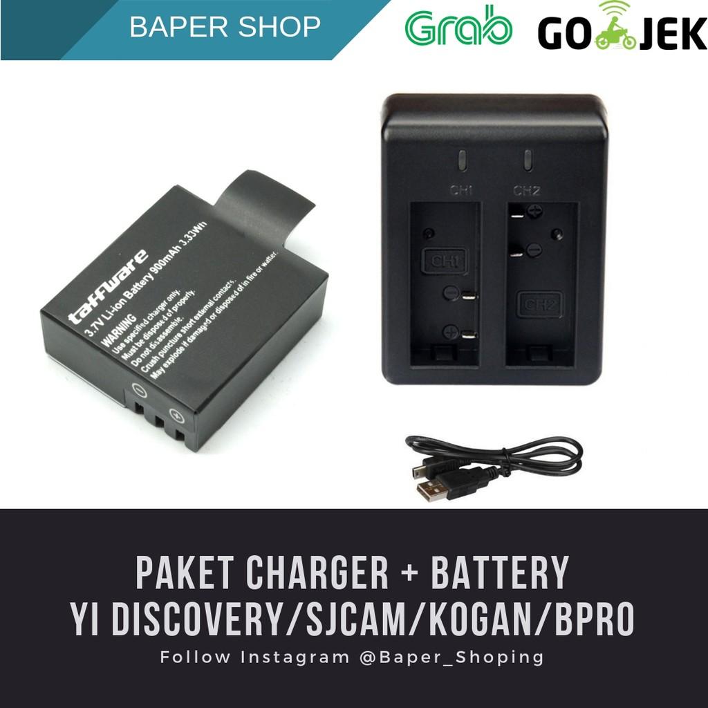 Battery/Baterai Cadangan Xiaomi Yi Discovery/Kogan/Sjcam/Brica/B-Pro AE1/AE2/AE2S/M10/EKEN   Shopee Indonesia