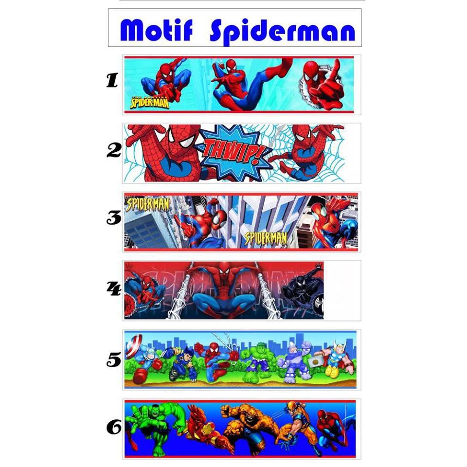 Wallborder Wallpaper Dinding Tembok Roll Spiderman 12mx10cm