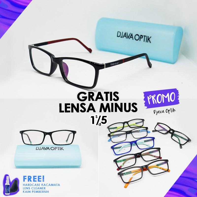 Frame 8025 Kacamata Pria Wanita Fashion Branded Murah Bisa Pasang Lensa MInus/ Kacamata Retro Kotak
