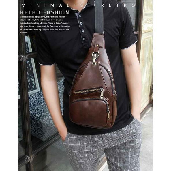 Jual tas kulit asli tas pria import super premium tas selempang tas santai  asli kulit Limited  bce5fccc9c