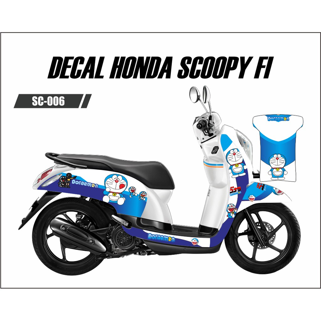 Gambar Motor Scoopy Modif Doraemon
