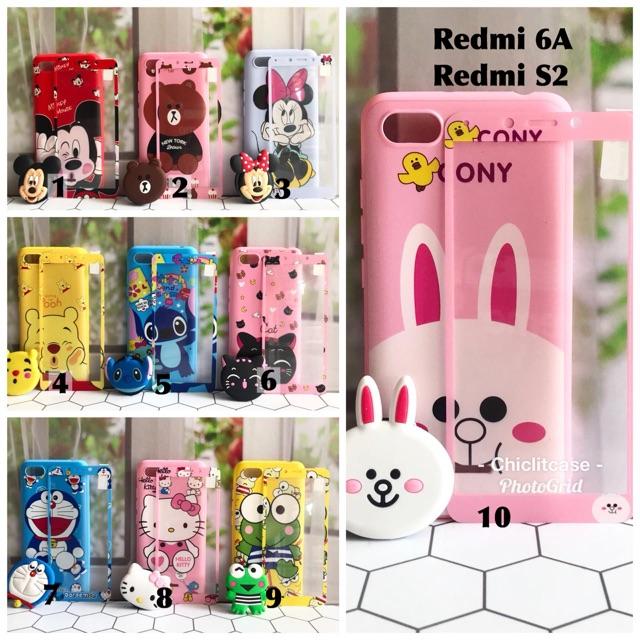 Softcase case karakter xiaomi redmi 5x A1 5A Prime hellokitty sinchan doraemon stitch cat mickey | Shopee Indonesia