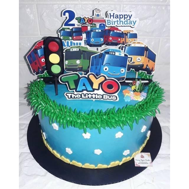 Kue Ulang Tahun Karakter Little Bus Tayo Cake Ultah Tart Tayo Shopee Indonesia