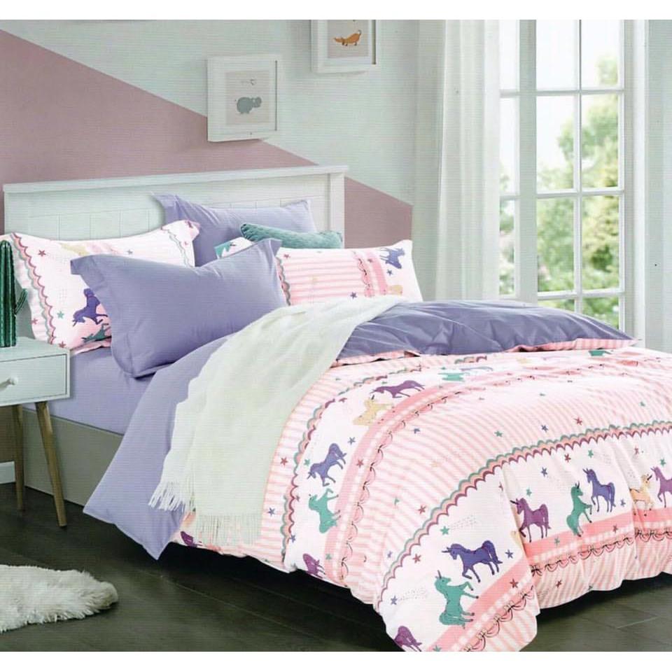 Bed Cover Katun Jepang Motif Unicorn Shopee Indonesia