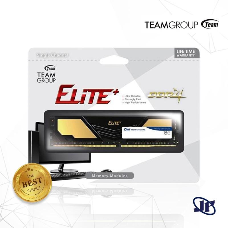 Memory Team Elite Plus DDR4 PC21000 2666Mhz Single Channel 16GB Ram - TPD4816M2666HC1601