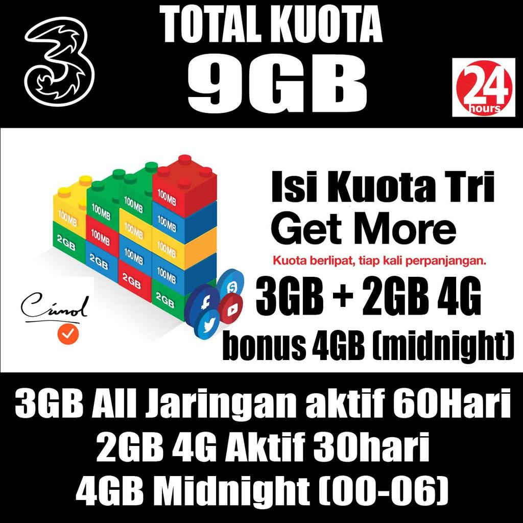 Daftar Harga Kuota Indosat Im3 9gb Terbaru 2018 3gb Isi Ulang Unlimited 1gb Shopee Indonesia