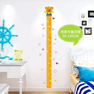 Height Stickers Removable Wall Stickers Children S Room Living Room Cartoon Baby Height Ruler Wall Decoration Stickers Shopee Indonesia