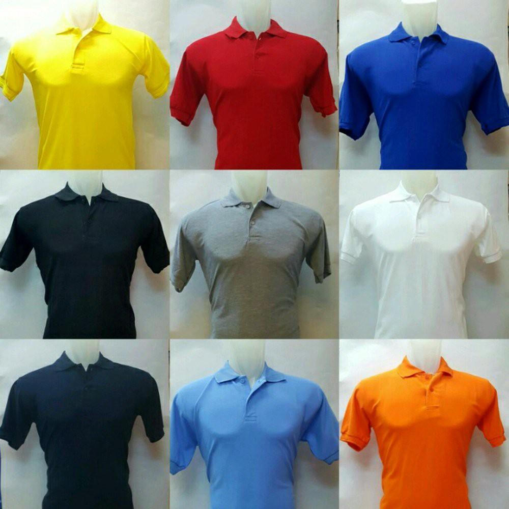 Baju Kaos Polo Shirt Kerah Pria Bordir Sablon Grosir Murah Seragam Polos  Kantor Komunitas Reuni Shopee Indonesia