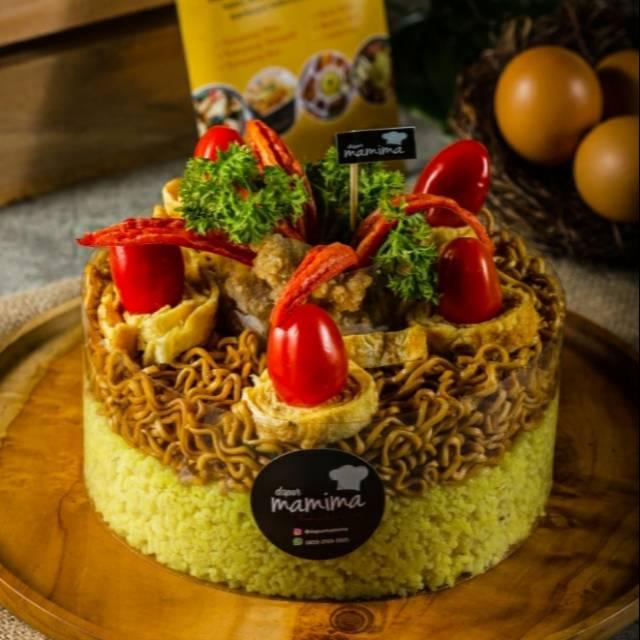 Tumpeng Tart Tumpeng Nasi Kuning Kue Nasi Kuning Ulang Tahun Shopee Indonesia
