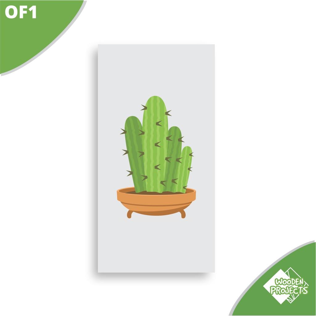 Home Decor Hiasan Dinding Dekorasi Rumah Ornament Bunga Kaktus Kartun Of