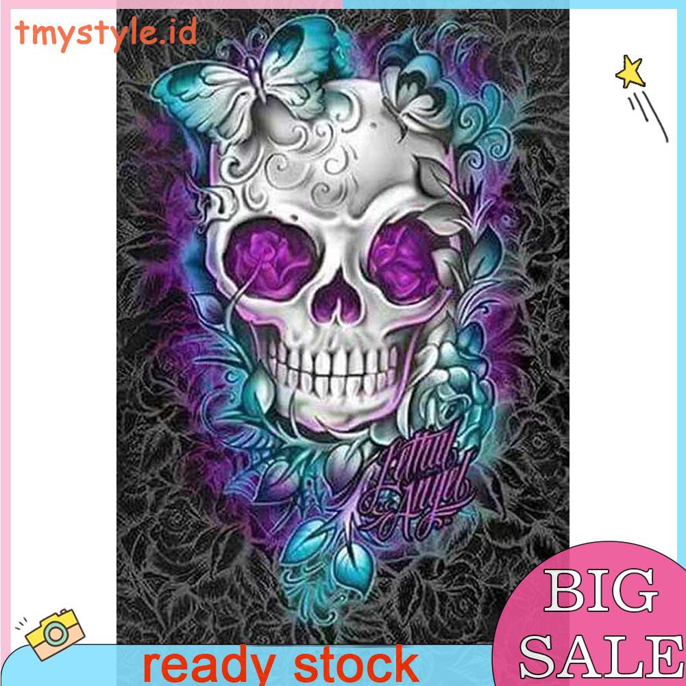 Skull DIY 5D Round Diamond Painting Embroidery Cross Stitch Kits Home Mosaic Art