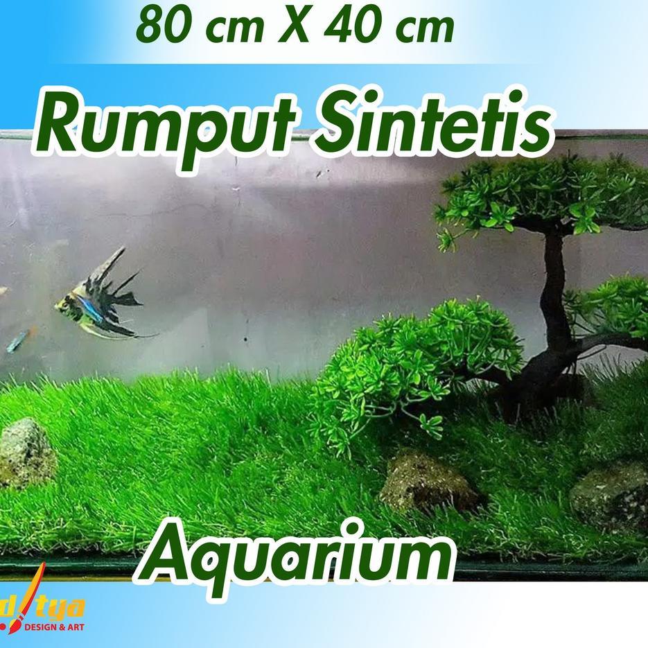 Termurah Seshopee Rda Rumput Sintetis Aquarium 25mm Aquascape Termurah Ukuran 60 X 40 Cm Dan 80 X Shopee Indonesia Rumput sintetis untuk aquarium