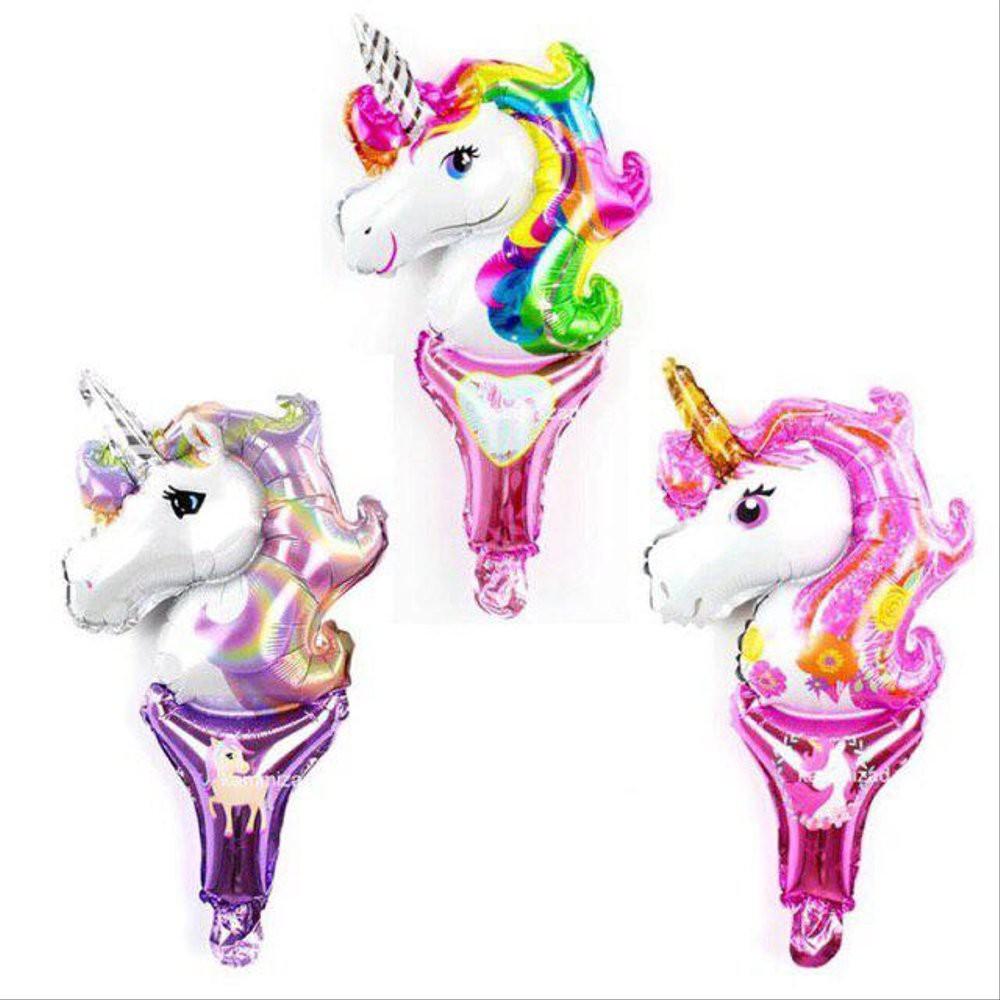 Dijual Balon Pentung Unicorn Balon Foil Stick Kuda Poni Pink Ungu Rainbow Diskon Shopee Indonesia