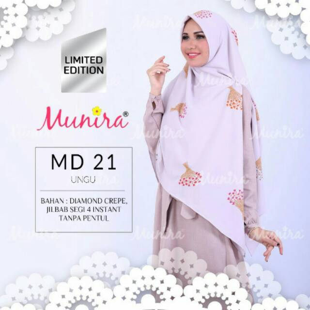 Munira Md21 Segi Empat Instant Diamond Crepe Limited Edition