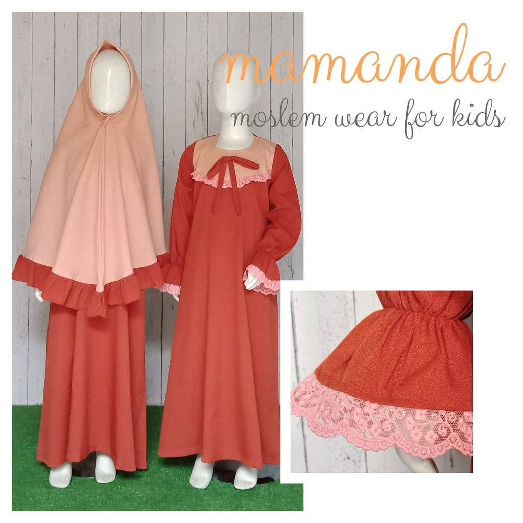 Gamis Anak Terracotta Saleha Series by Mamanda