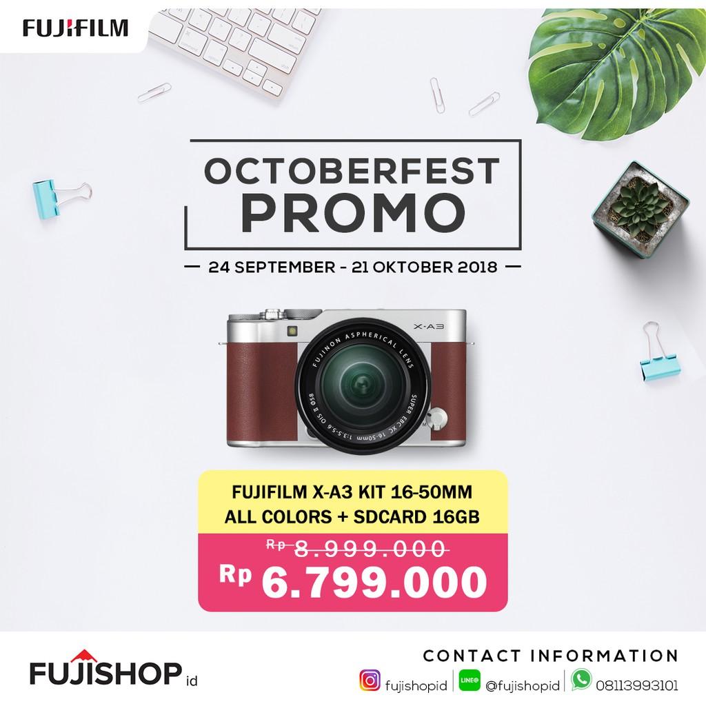 Fujifilm X A3 Kit 16 50mm 35 56 Ois Ii Pink Shopee Indonesia Xc Mini 8 Sd16gb Hitam
