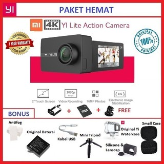 (14 in 1) Paket Hemat Xiaomi Yi 4K Lite Original Garansi Resmi   Shopee Indonesia