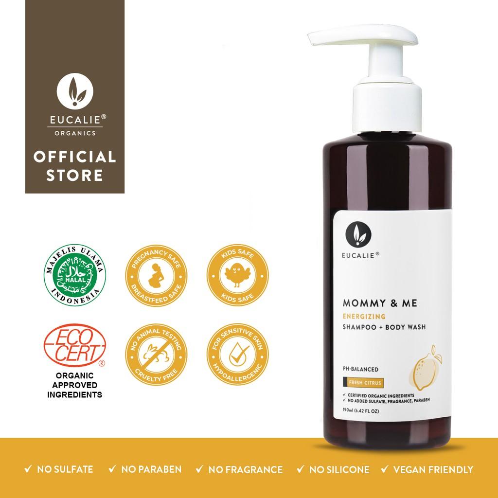 Eucalie Mommy Me Energizing Organic Shampoo Body Wash