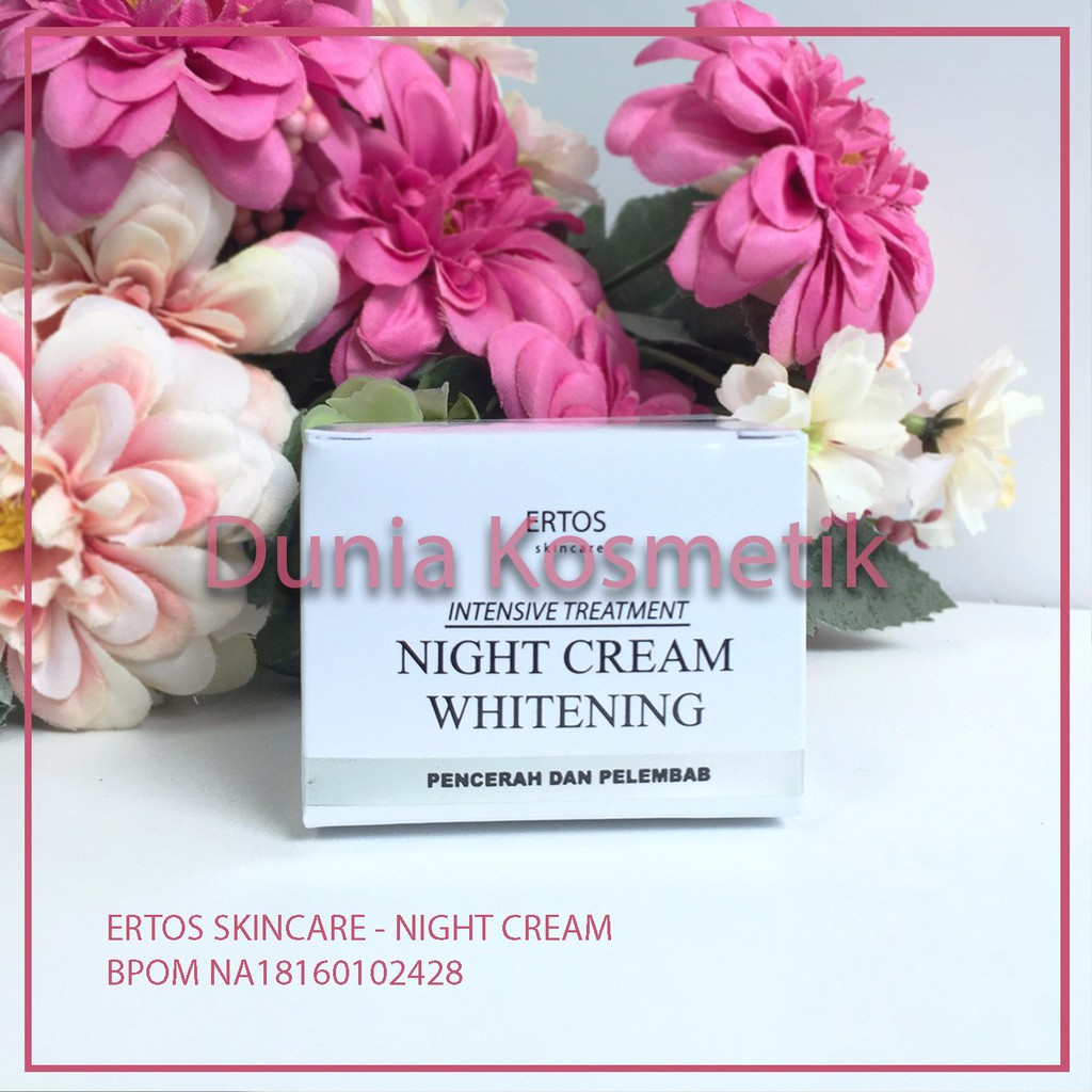 Ertos Night Cream Whitening Pencerah Dan Pelembab Erto S Shopee Indonesia