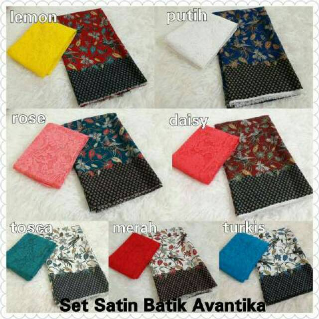 Set satin batik +brokat | Shopee Indonesia -. Source · Kebaya Bali Murah Set Kain Satin kusuma hijau dan atasan brokat sofia ...