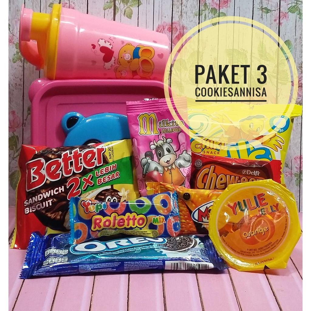 Paket Snack Ultah Paket Souvernir Ultah Bingkisan Ulang Tahun Anak Murah Paket 3