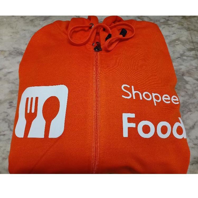 Top Seller Jaket Distro Zipper Hoodie  Food New Jaket Shopeefood Distro °•.¸¸.•°`