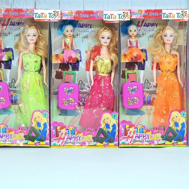 Promo Terbatas Mainan Boneka Barbie Beautiful Fashion Mom Kid Dengan Koper ò Shopee Indonesia