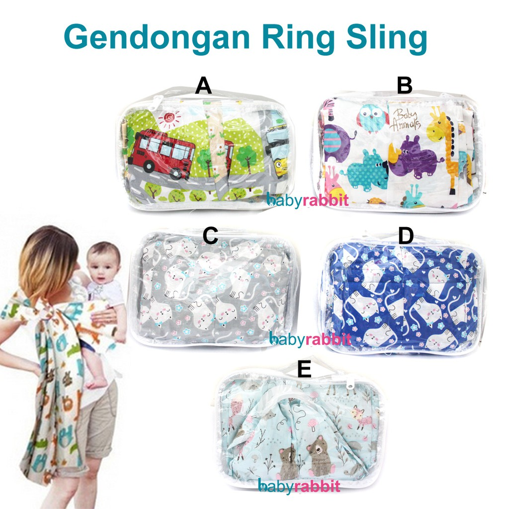 Simple Sling Petite Mimi Geos Gendongan Kaos Cotton Two Tone Blue Size Xl Aqua Shopee Indonesia