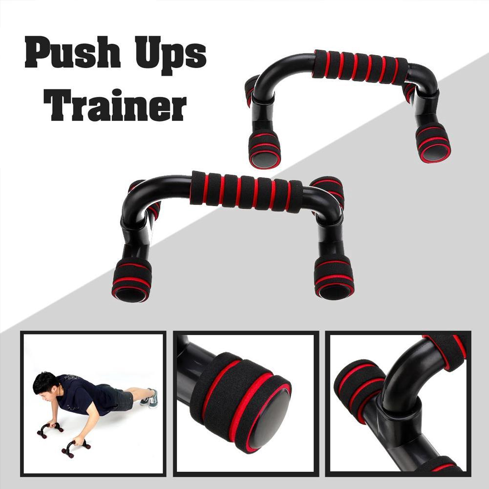 1 Pair Home Gym Fitness Exercise Strength Training CampTeck Push Up Bars Stand with Foam Grip Handle for Chest Press