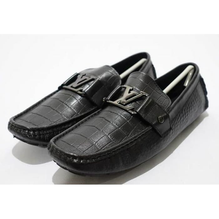 Diskon Sepatu Hermes Loafer Black Leather Type H1 Mirror Quality S717 | Shopee Indonesia