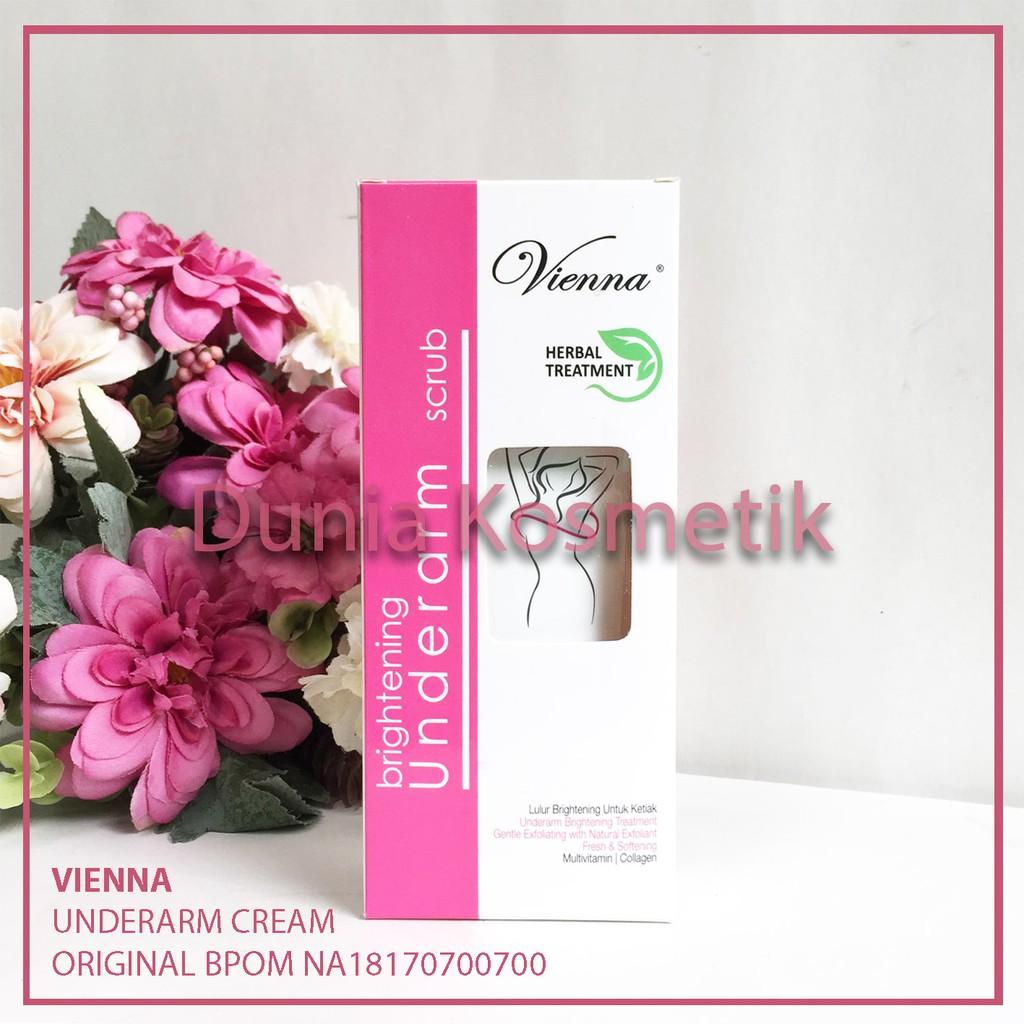 Vienna Underarm Scrub Herbal Treatment Krim Pemutih Ketiak Bpom Shining Cupcake Cream Plus