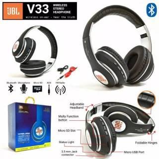 Headset Headphone Bando Bluetooth Samsung Oppo Lenovo Xiaomi Vivo Original JBL Stereo Bass Gaming