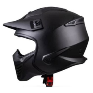 JPX HELM MX726R SOLID | BLACK DOFF RED | MX726 R CROSSOVER ...