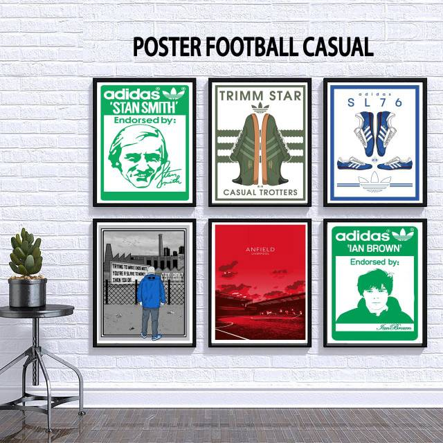 Poster Casual Art Football Shopee Indonesia