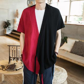 Gaya laki-laki China tipis jaket kain retro gaya Hanfu ...