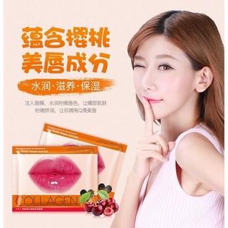 Images Cherry Collagen Moisturizing Lip Mask Anti Drying and Desalination Lips Masker Bibir Pink thumbnail