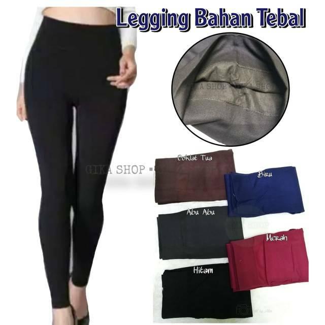 Celana Legging Tebal Import Highwaist Elastis Muat Ukuran Jumbo Lapisan Dalam Bahan Fleece Halus Shopee Indonesia
