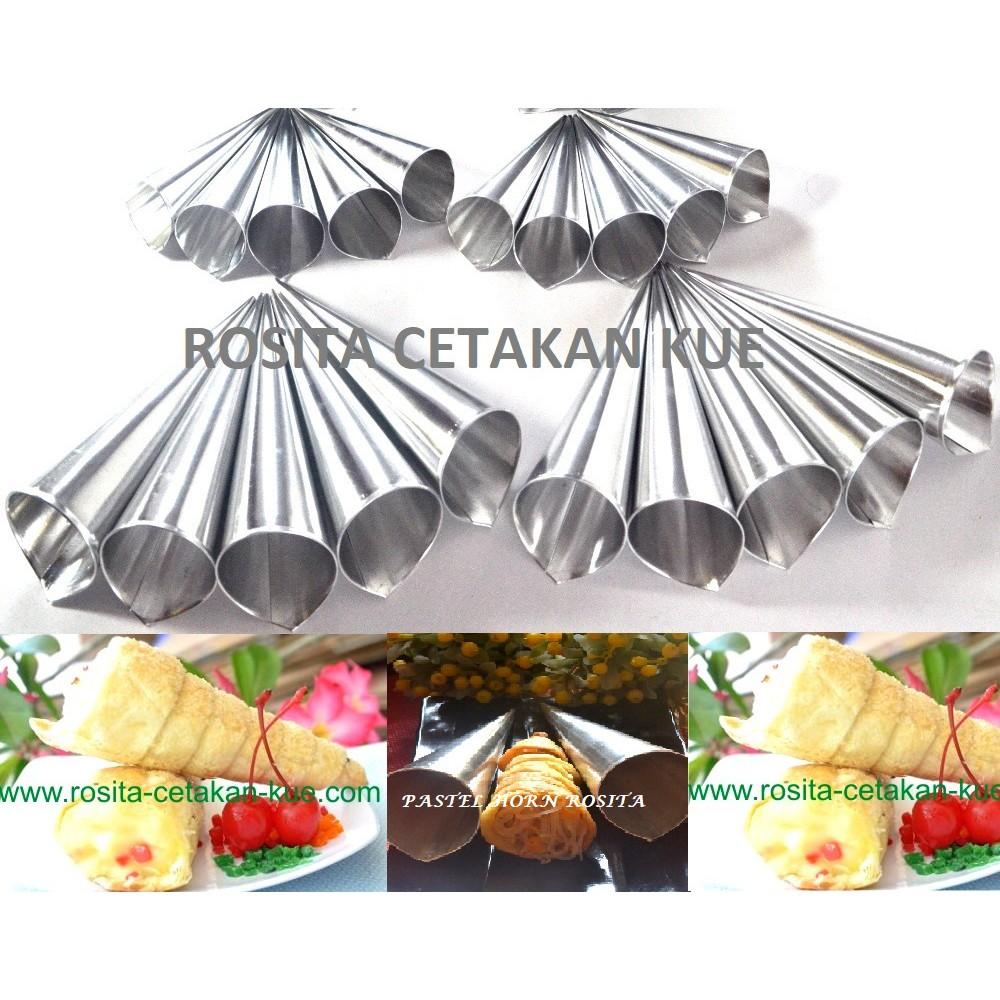 CETAKAN KUE CUNCUM / HORN / PASUNG KECIL/Pastel kerucut (1 Set Isi 10) | Shopee Indonesia
