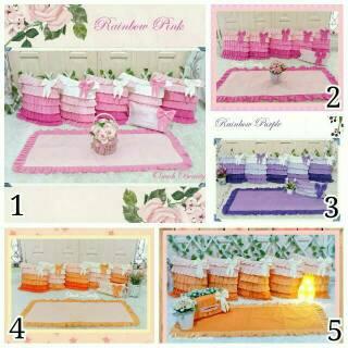 Sarung Bantal Sofa Kursi Home Set Ruang Tamu Shabby Polos Preorder Shabbychic Homeset Pink Ungu