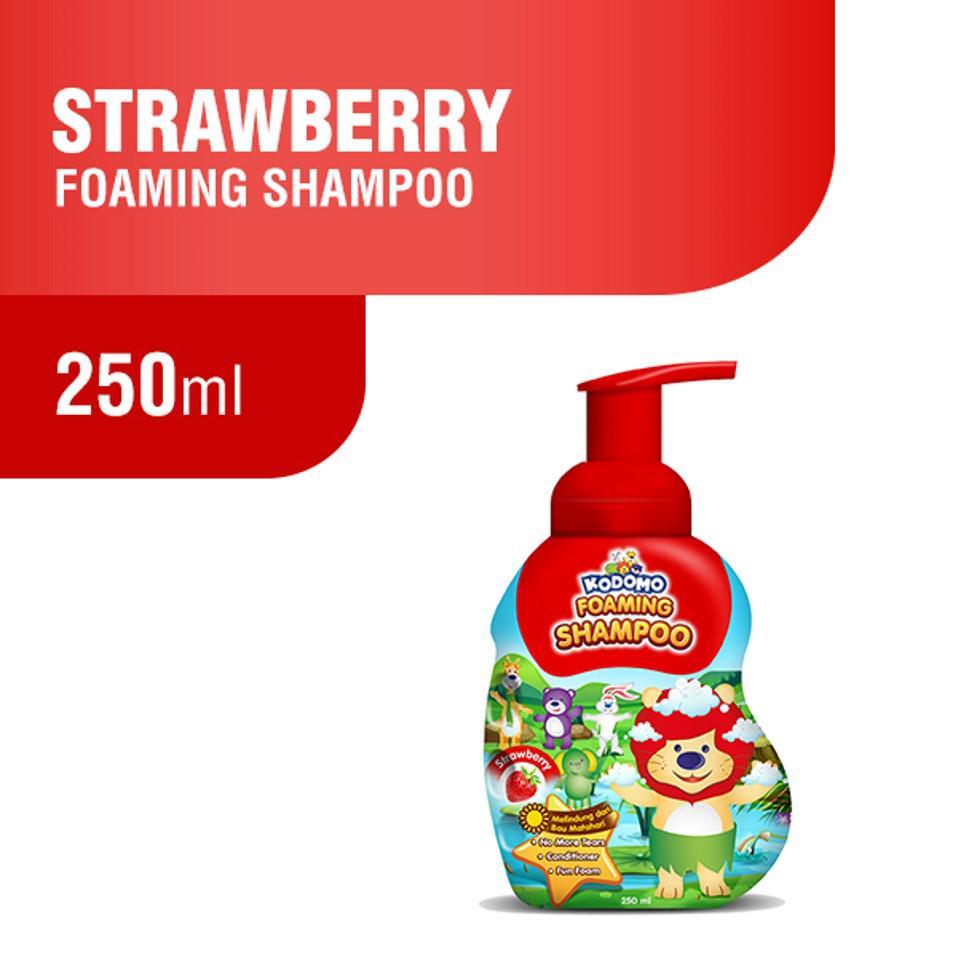 Kodomo Shampoo Foam Strawberry 250 ml + Kodomo Bodywash Foam Strawberry Botol 250 ml-1