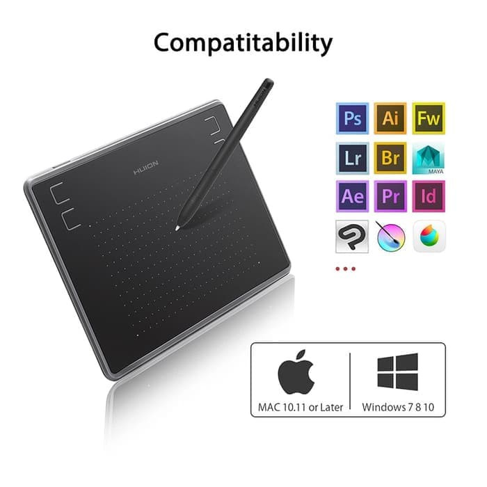 Huion P68 Pena Tablet Gambar Grafis Nirkabel - Putih (1 x AAA) | Shopee