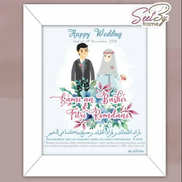 foto bingkai wedding foto karikatur pernikahan shopee indonesia foto bingkai wedding foto karikatur pernikahan