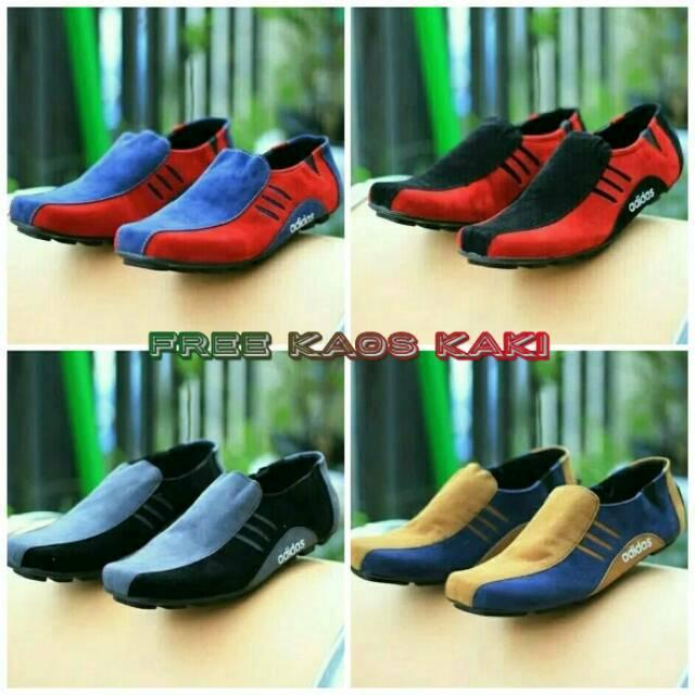 Sepatu Pria 01 02 03 04 adidas Slop Keren Slip On Murah Kerja Loafers Jalan  Casual Laki Kasual Cowok  095a509bd3