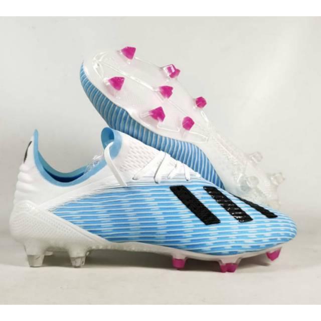 Sepatu Bola Adidas X 19 1 Cyan Blue Fg Shopee Indonesia