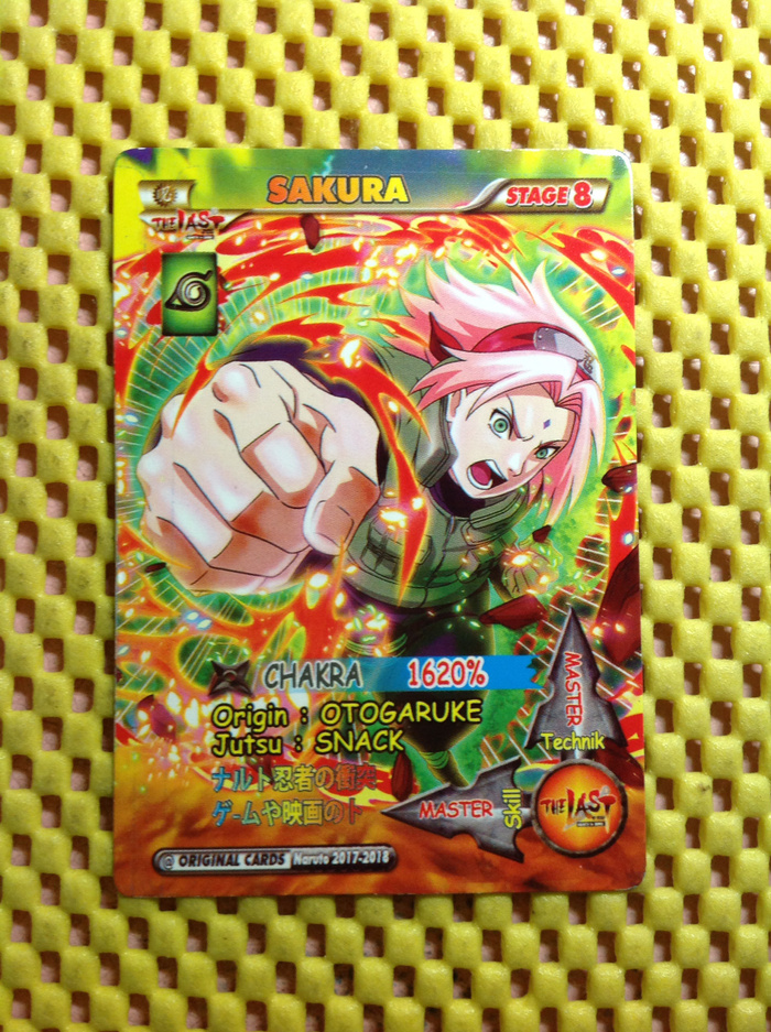 Koleksi kartu sakura girl super ninja master chakra anime naruto based