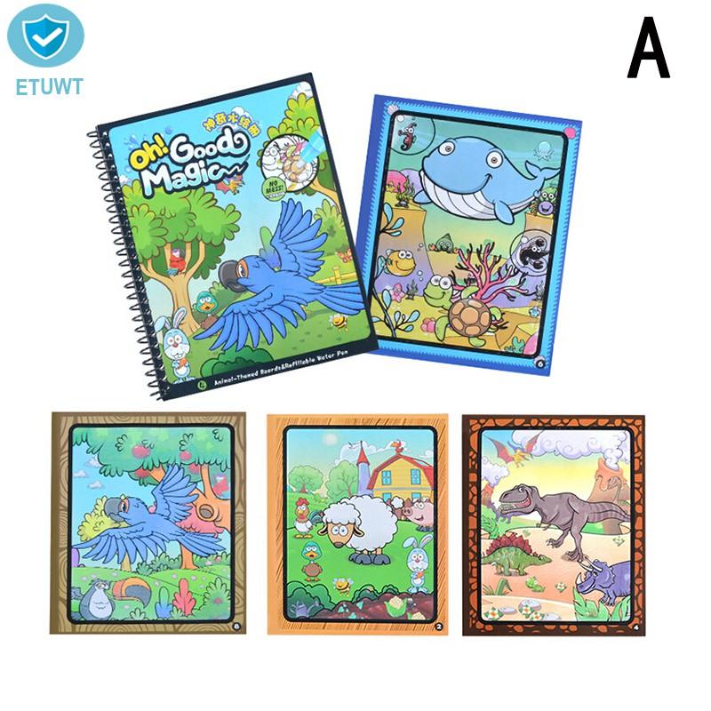 Mainan Edukasi Buku Magic Doodle Mewarnai Dengan Pen Air Untuk Anak