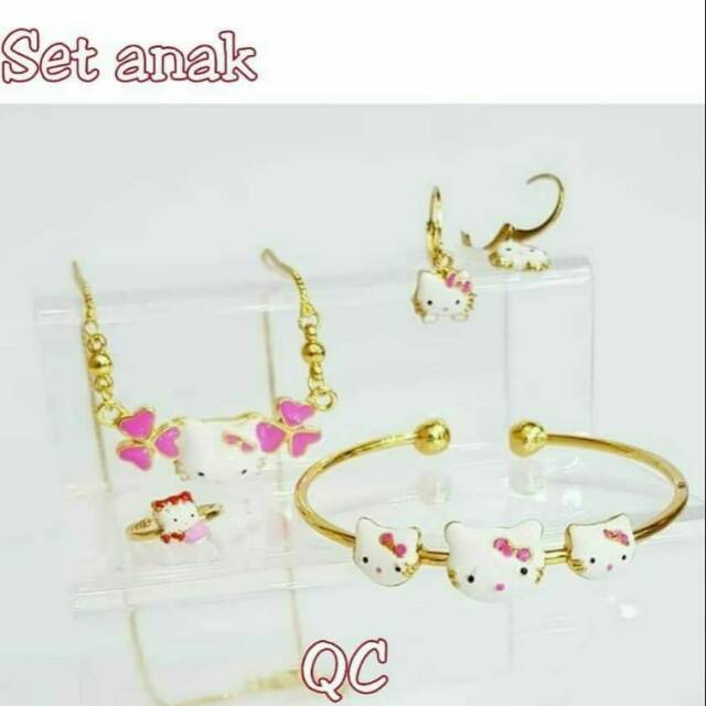 Kalung anak hello kitty (xuping / perhiasan lapis emas ) | Shopee Indonesia
